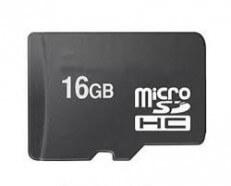 MicroSD-kaart 16 GB