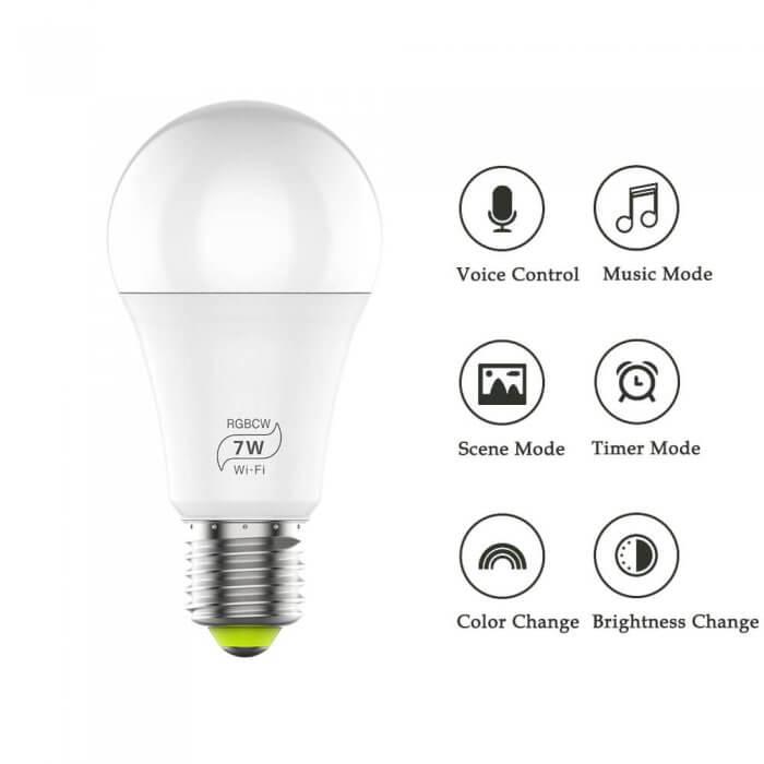 Wilt u een wifi smart lamp kopen? en wilt u de mogelijkheid hebben om op afstand kleuren te veranderen, het ...
