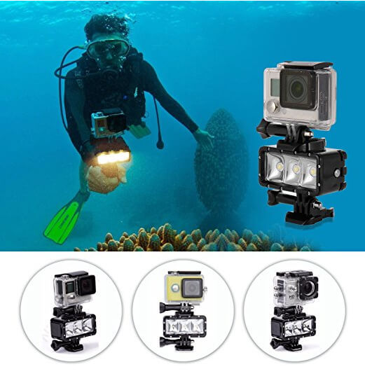 Diving light actioncamera