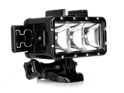 Diving light actioncamera