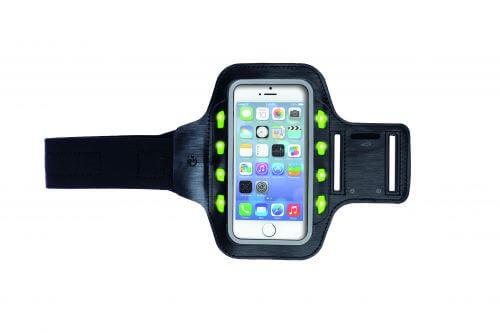 Sportarmband met LED en reflectie strip voor smartphones