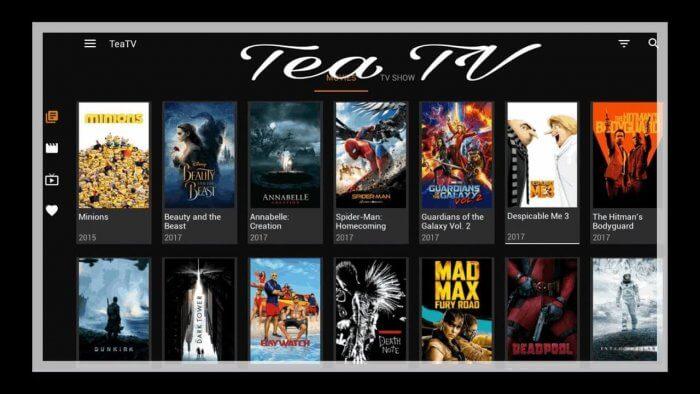 Tea TV voor films en series